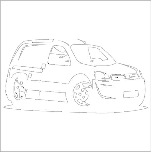 Samolepka karikatura Peugeot Partner
