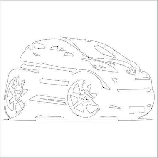 Samolepka karikatura Peugeot 108