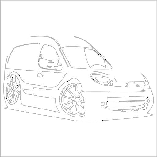 Samolepka karikatura Renault Kangoo - zvìtšit obrázek