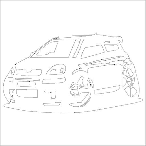 Samolepka karikatura Toyota Yaris - zvìtšit obrázek