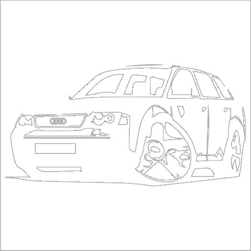 Samolepka karikatura Audi A4 Avant - zvìtšit obrázek