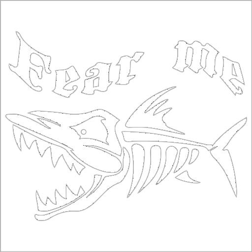 Samolepka Fear Me