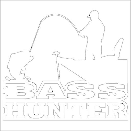 Samolepka Bass Hunter - Rybáø