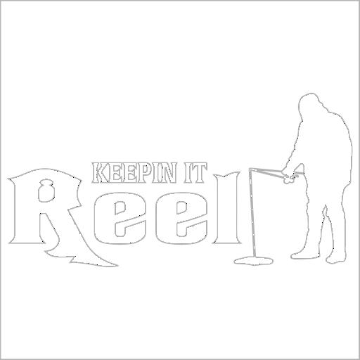 Samolepka Keepin it reel - Rybáø