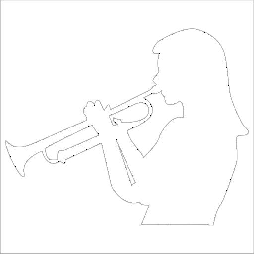 Samolepka Trumpetistka - zvìtšit obrázek