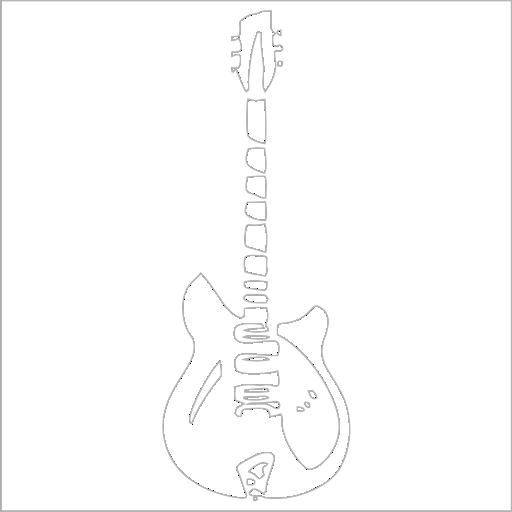 Samolepka Kytara - zvìtšit obrázek