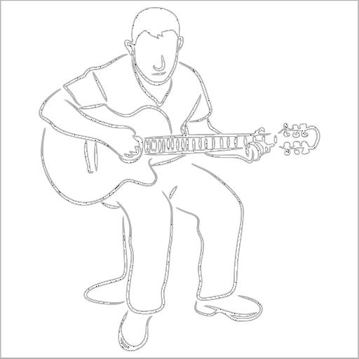 Samolepka Kytarista - zvìtšit obrázek