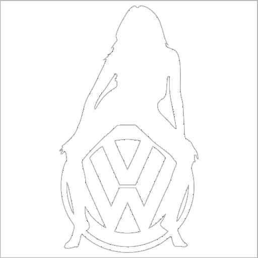 Samolepka VW žena