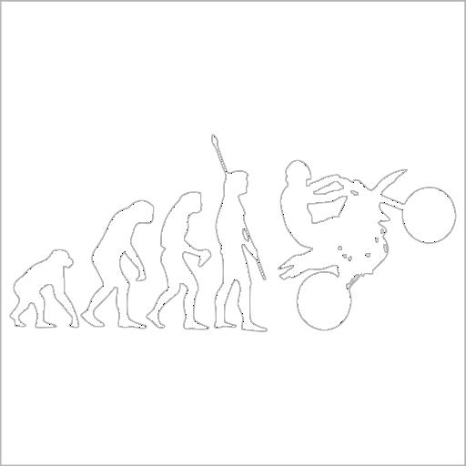 Samolepka Evoluce Motorkáø - zvìtšit obrázek