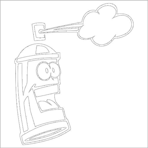 Samolepka Graphic Spray - zvìtšit obrázek