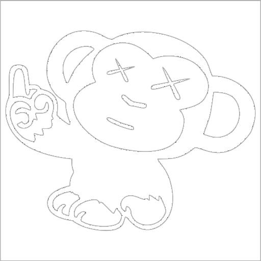 Samolepka JDM Monkey - zvìtšit obrázek