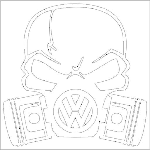 Samolepka VW lebka