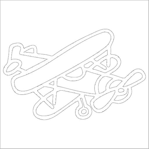 Samolepka Letadlo