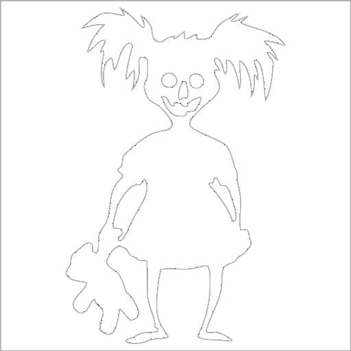 Samolepka Zombie Girl - zvìtšit obrázek