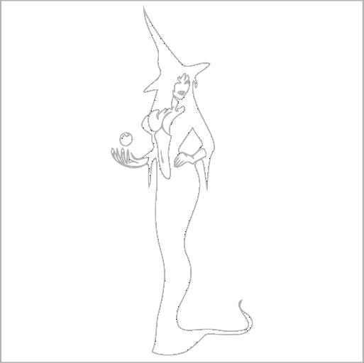 Samolepka Sexy Èarodejnice - zvìtšit obrázek