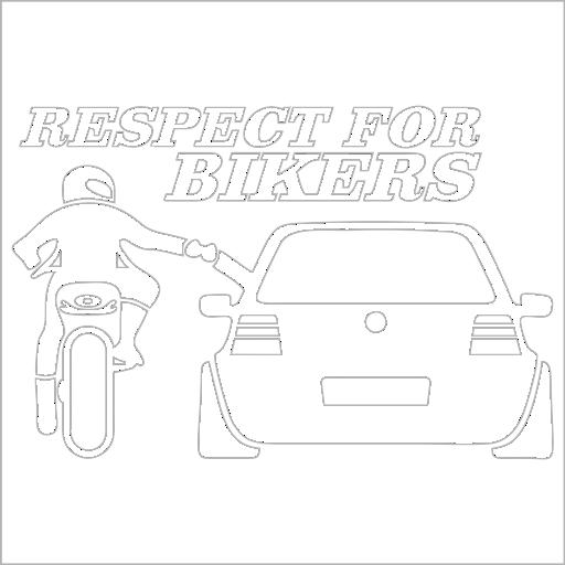 Samolepka Respect For Bikers - zvìtšit obrázek