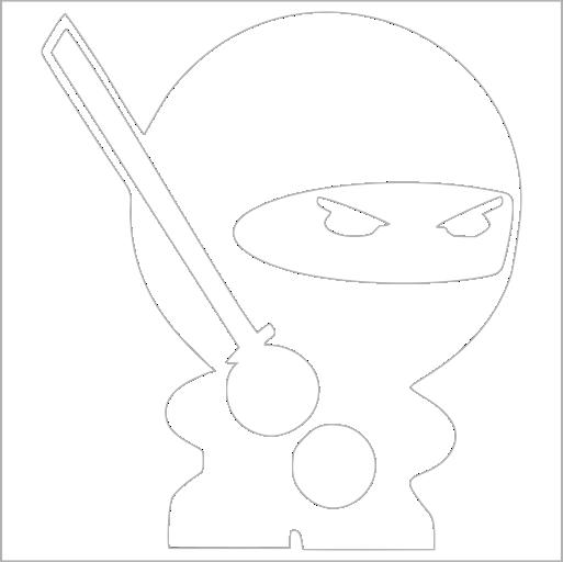 Samolepka Ninja - zvìtšit obrázek