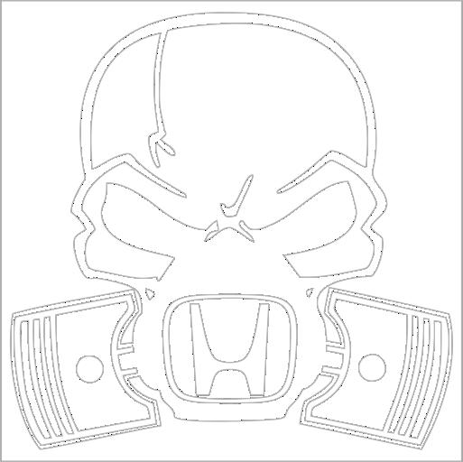 Samolepka Honda lebka - zvìtšit obrázek
