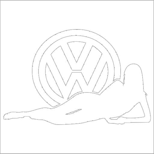 Samolepka VW žena - zvìtšit obrázek