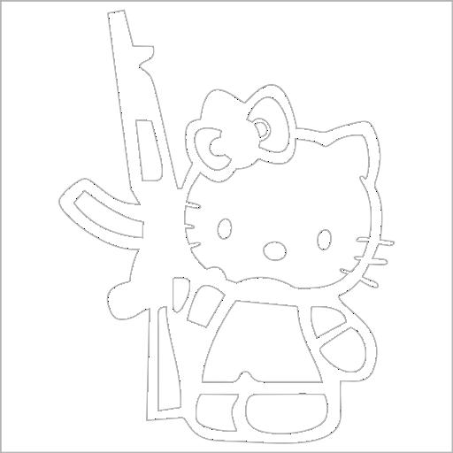 Samolepka Army Kitty