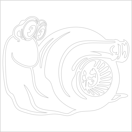 Samolepka Turbo šnek