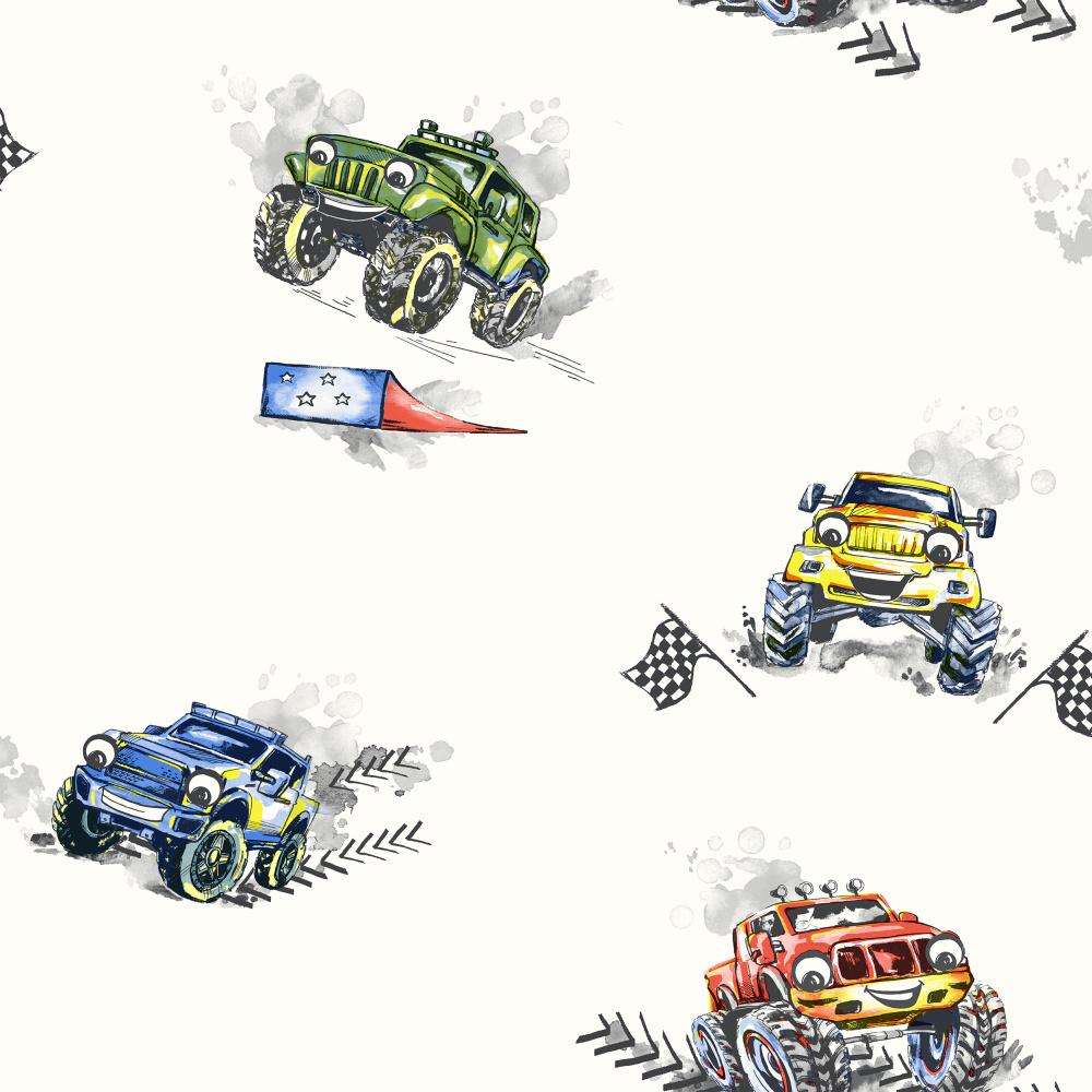 Papírová tapeta Monster Trucks Barevná - zvìtšit obrázek