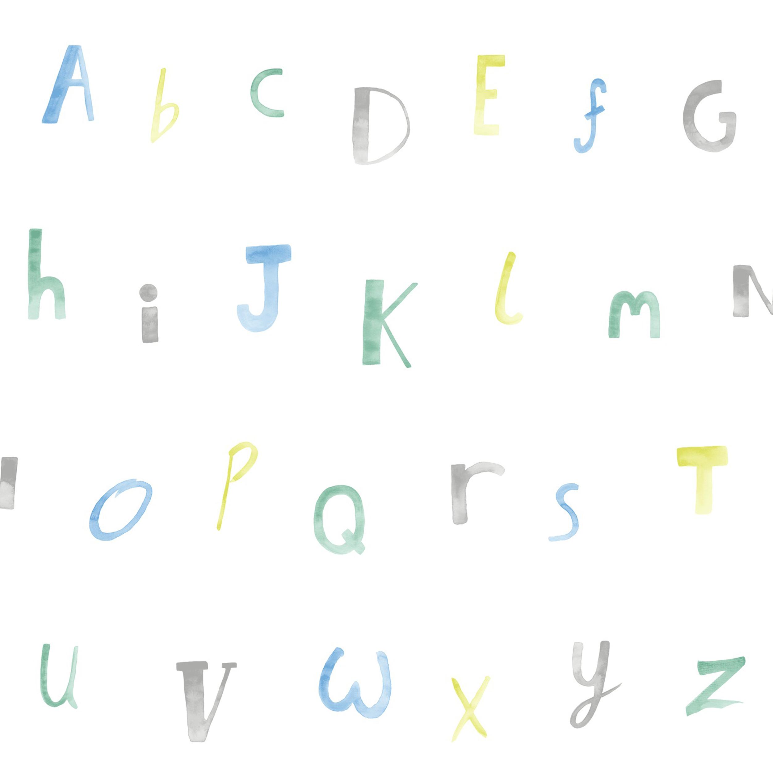 Papírová tapeta Alphabet Modrá - zvìtšit obrázek