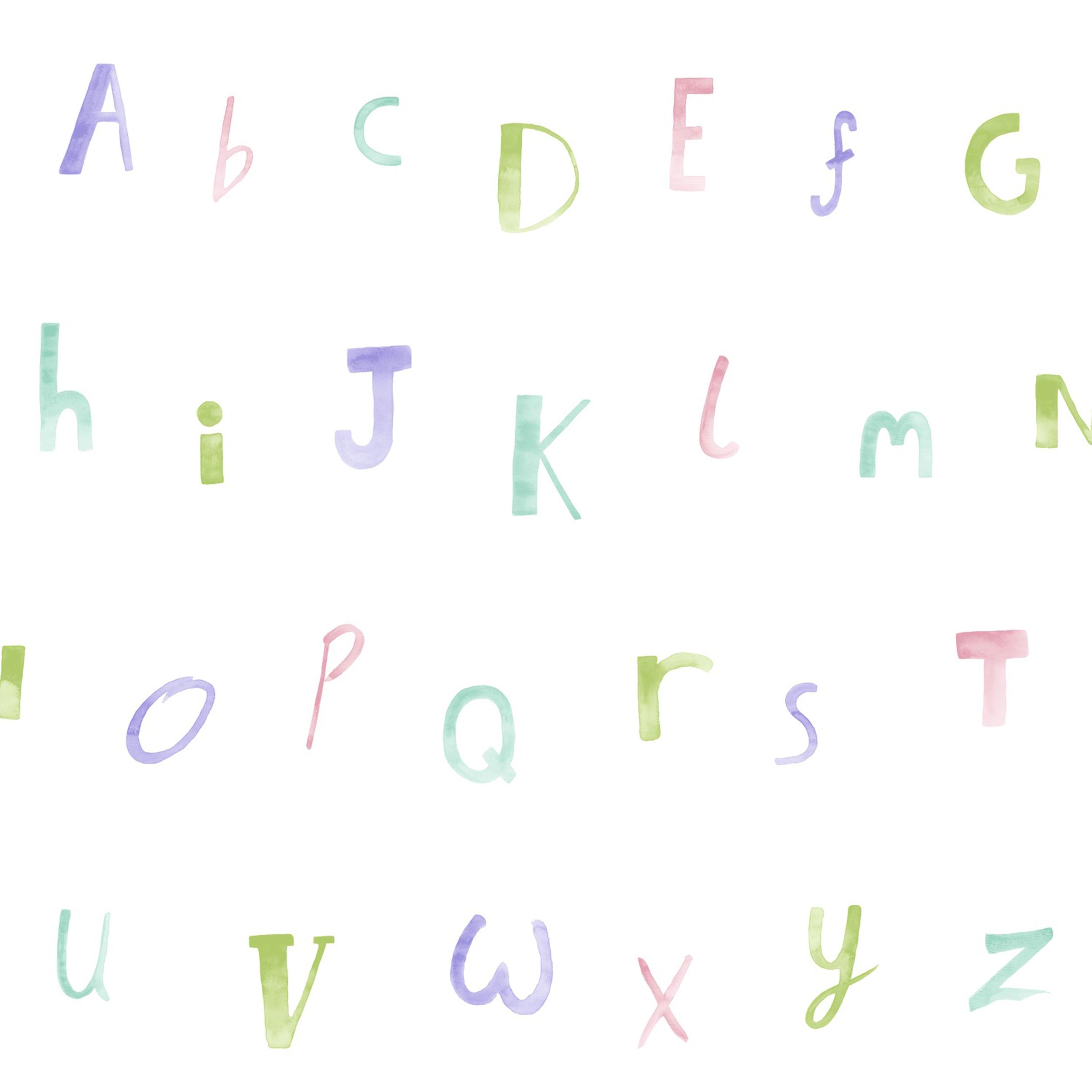 Papírová tapeta Alphabet FIalová - zvìtšit obrázek