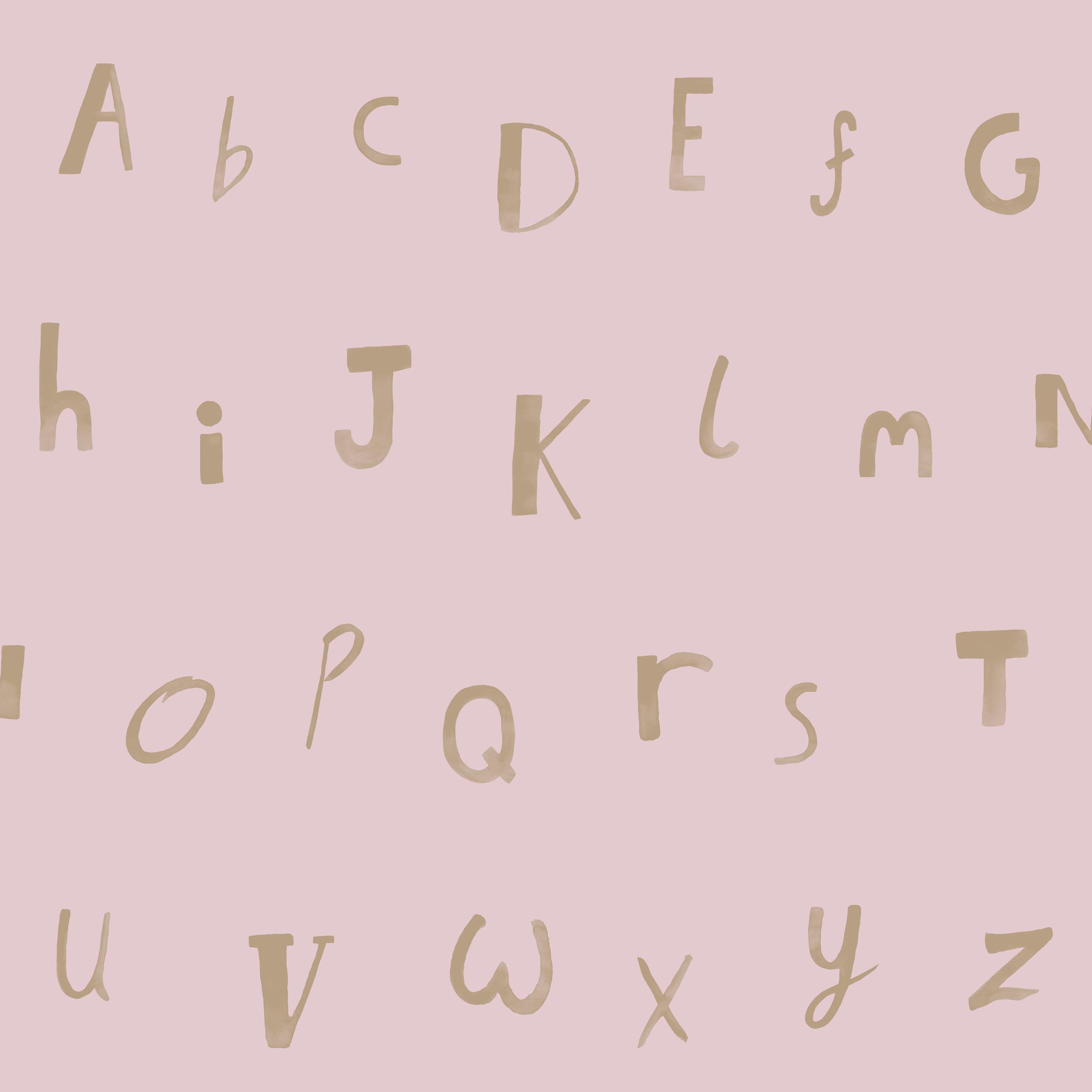 Papírová tapeta Alphabet Rùžová - zvìtšit obrázek