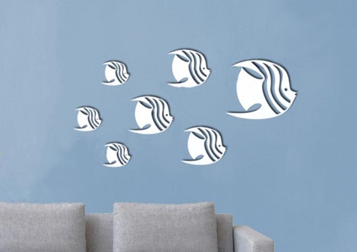 Zrcadlové samolepky Sedm rybièek - zvìtšit obrázek