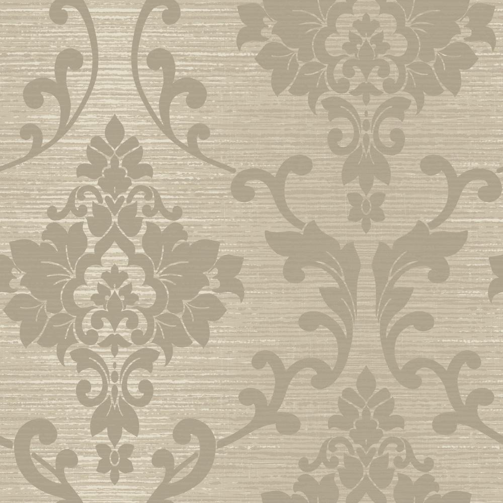 Papírová tapeta Kaluna Damask Hnìdošedá - zvìtšit obrázek