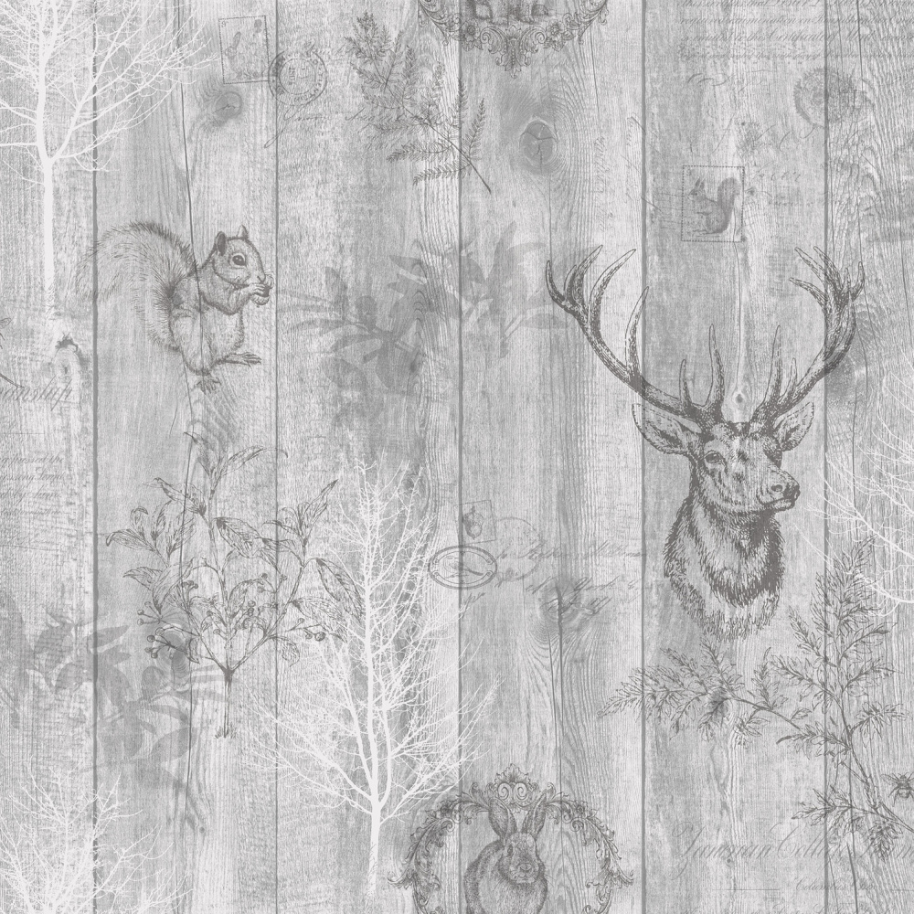 Vliesová tapeta Chatsworth Šedá - zvìtšit obrázek