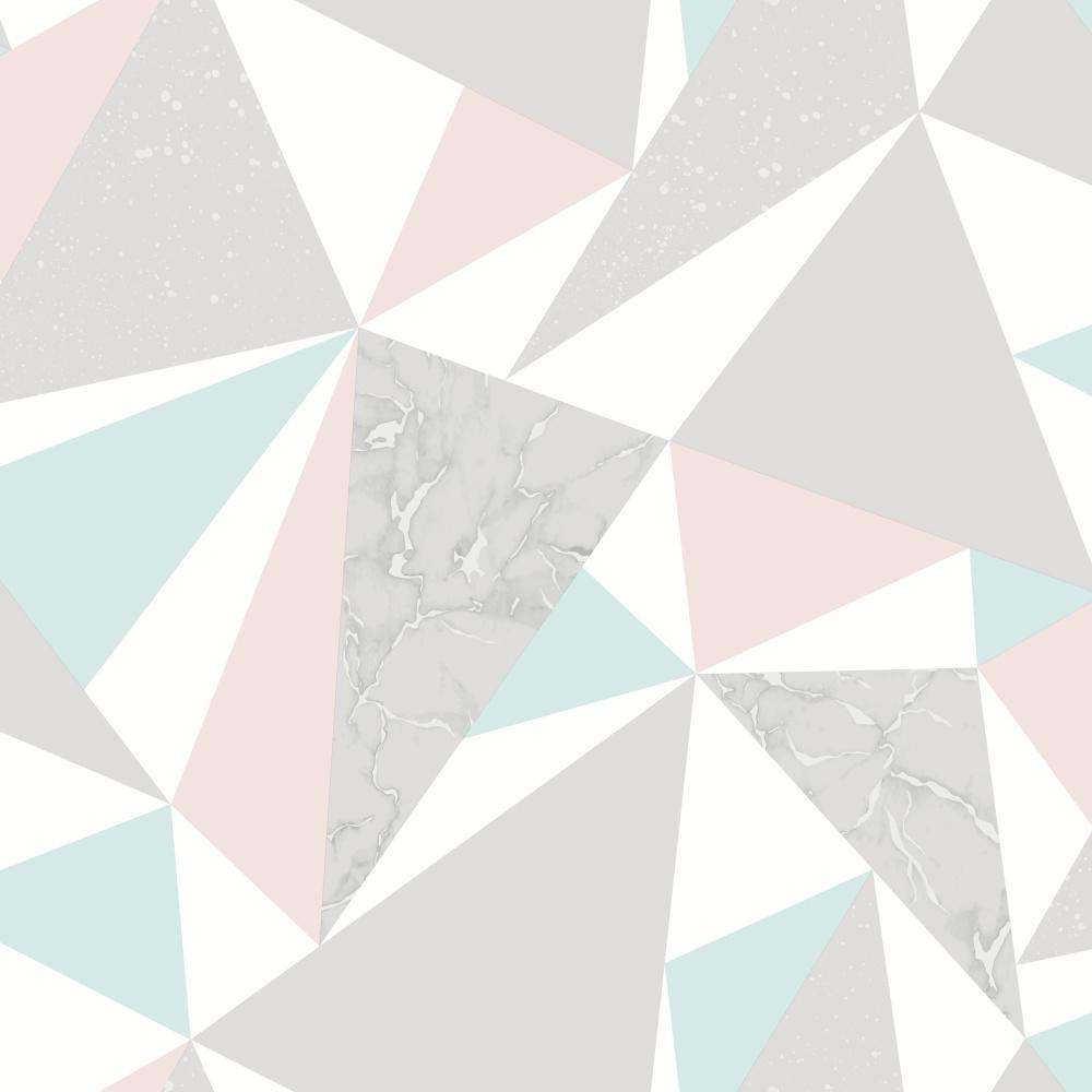 Vliesová tapeta Glacier Pink/Soft Teal Rùžovo-tyrkysová - zvìtšit obrázek