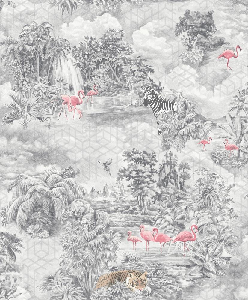 Vliesová tapeta Mayang Šedá - zvìtšit obrázek