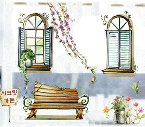 Samolepka na zeï rùzné Malovaná okna