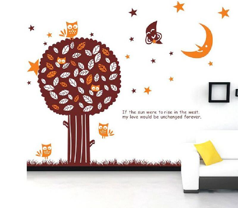 Samolepka na zeï strom Mìsíèní strom