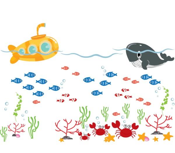 Velryba a ponorka - zvìtšit obrázek