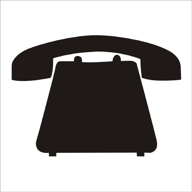 Nalepovací tabule Telefon