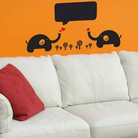Nalepovací tabule pro dìti Zamilovaní sloni