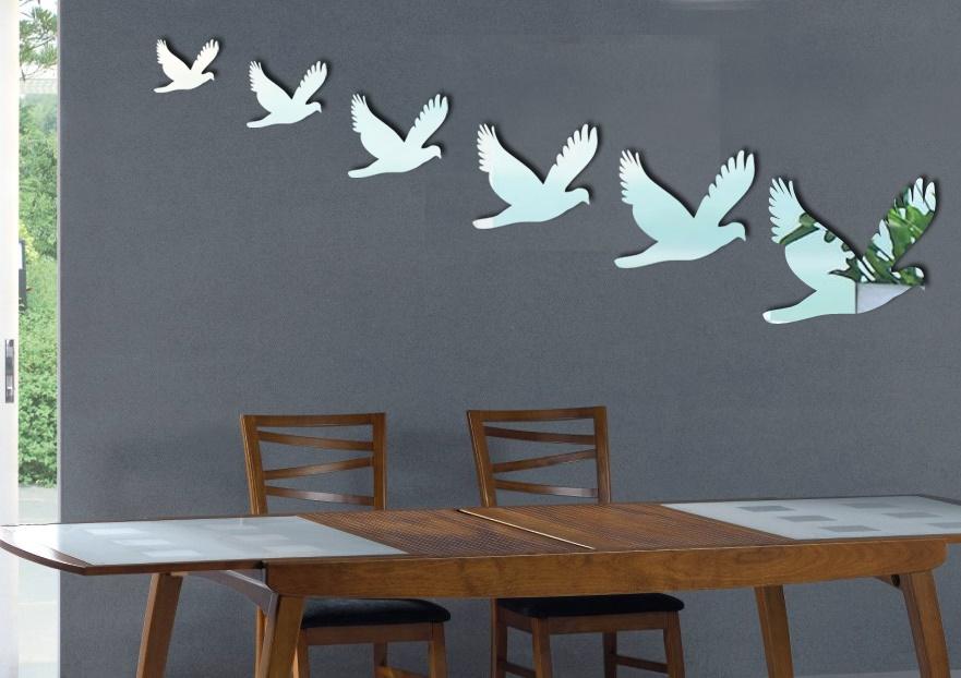 Zrcadlové samolepky Šest ptáèkù - zvìtšit obrázek