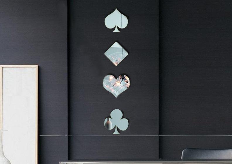 Zrcadlové samolepky Karetní symboly - zvìtšit obrázek