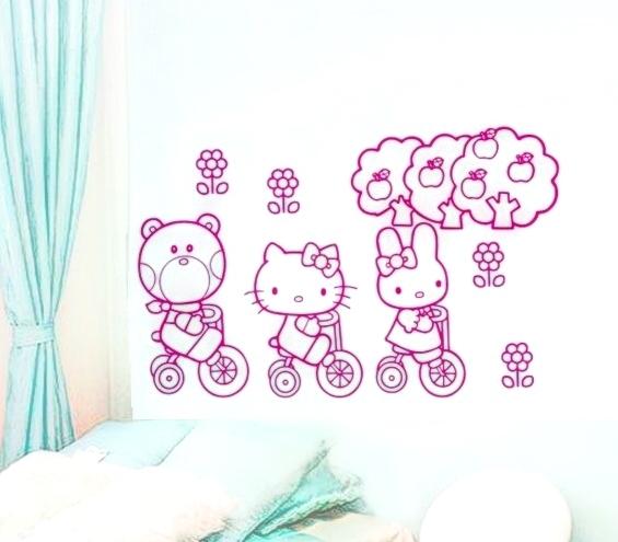 Hello Kitty a pøátelé Samolepka na zeï pro dìti