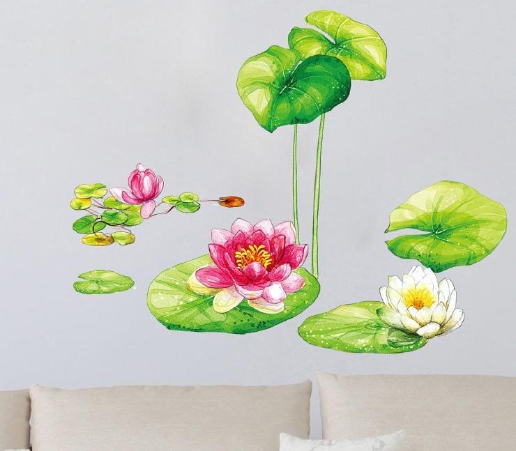Samolepka na zeï kvìtina Vodní zahrada - zvìtšit obrázek