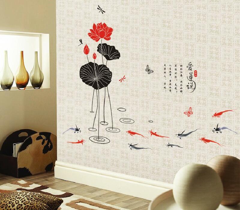 Samolepka na zeï kvìtina Japonský lotosový kvìt