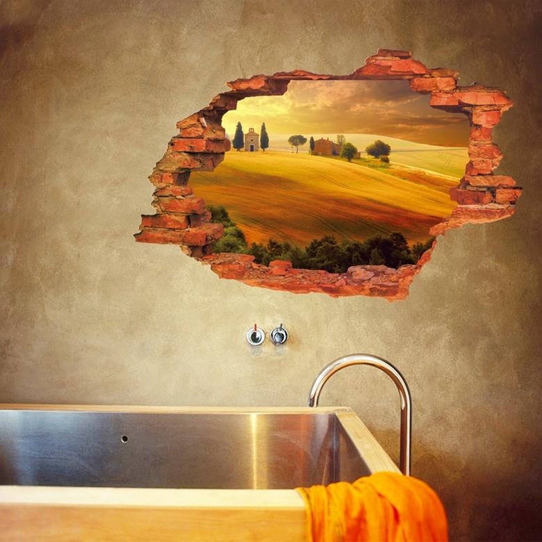 Samolepka na zeï 3D Podzimní krajina