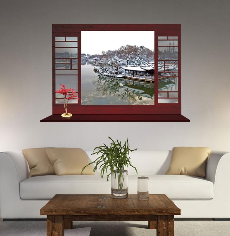 Samolepka na zeï rùzné Malebné okno 7 - zvìtšit obrázek