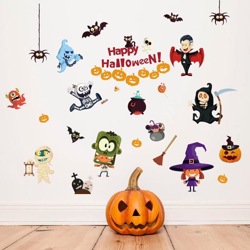 Samolepka na zeï Veselý Halloween - zvìtšit obrázek