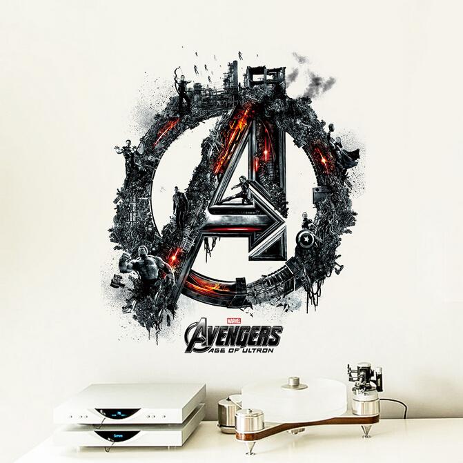 3D samolepka na zeï Avengers logo