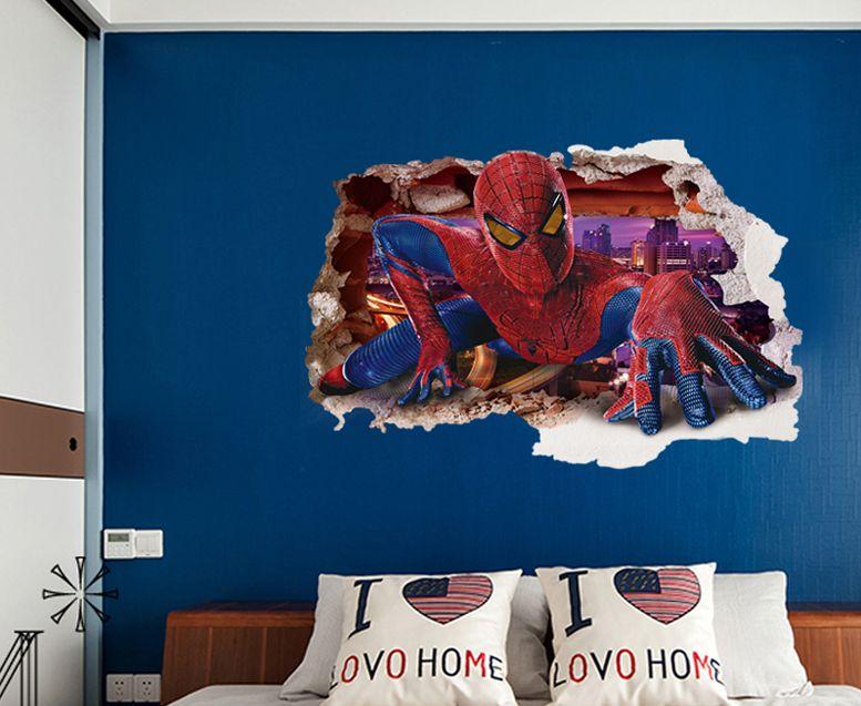 3D samolepka na zeï Spiderman ve zdi