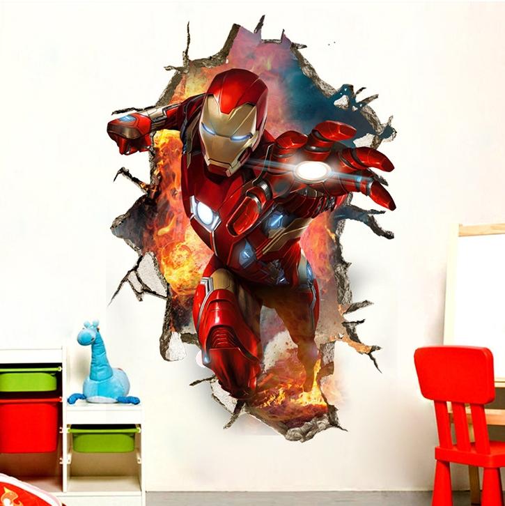 3D samolepka na zeï Iron Man